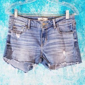Hollister Distressed Light Cut Off Denim Shorts
